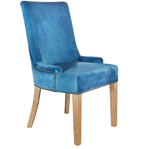 Hamilton dining chair in royal blue velvet