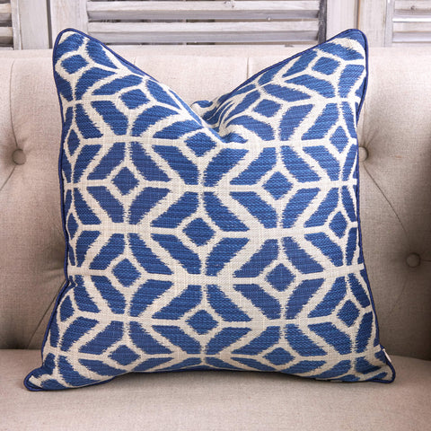 Indigo Tribal Print Cushion