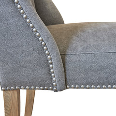 Kingsley Button Back Dining Chair – Dove Grey