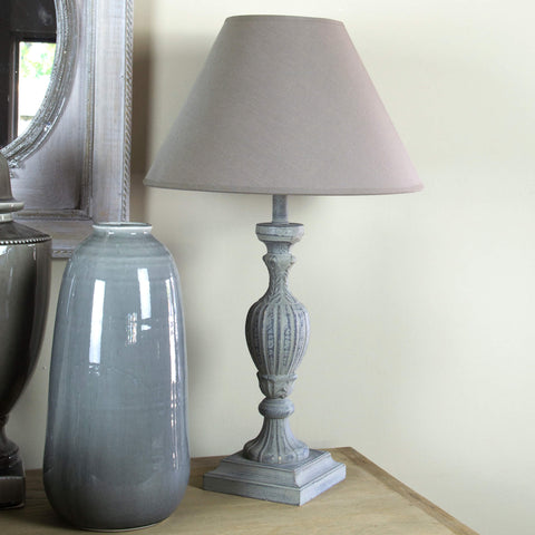 Grey Katie Lamp Base and Shade