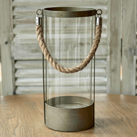 Large rope candle holder