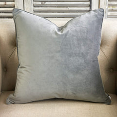 Grey Velvet Cushion – Small