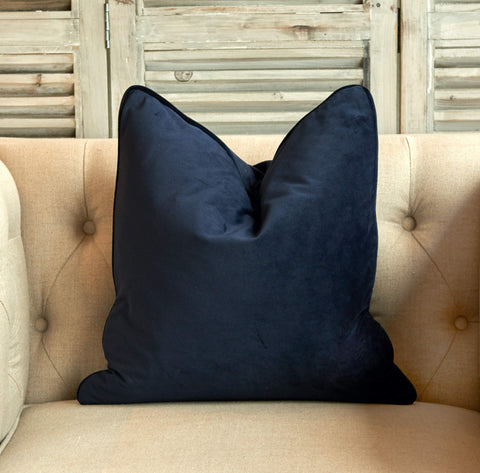 Luxe Velvet Cushion Navy - Small