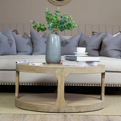 Compton Weathered Oak Round Coffee Table