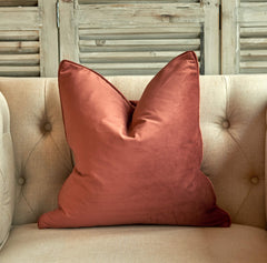 Luxe Velvet Cushion Paprika - Small