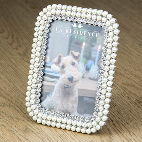 Pearl and Crystal Photo Frame