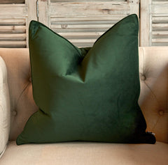 Luxe Velvet Cushion Pinegreen - Large