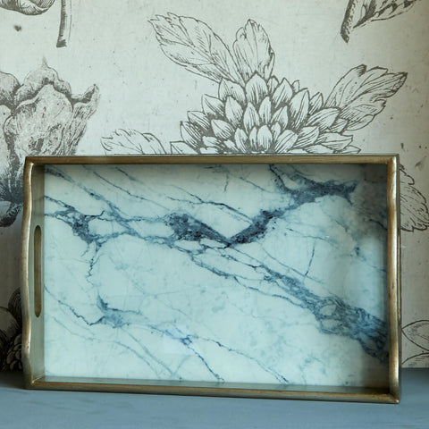 Rectangular Marbled Tray
