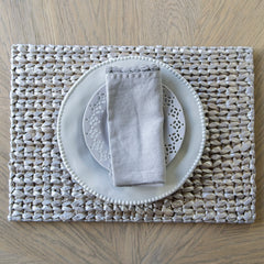 Rectangle Woven Place mat - Silver
