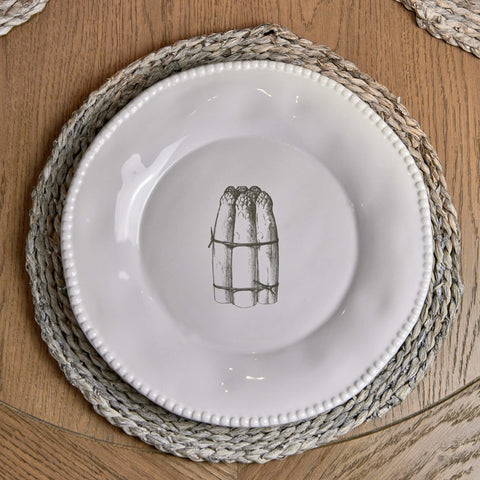 Round Rattan Placemat - Grey
