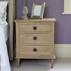St Claude Weathered Oak Bedside Table
