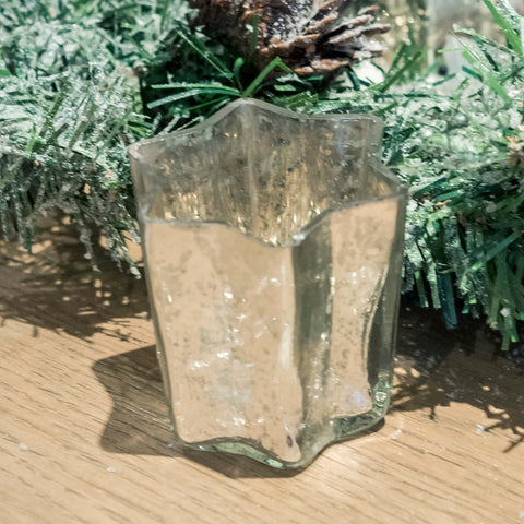 Glass Star shaped Candle Voltive - Small