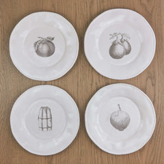 4 large vegetable dinner plates