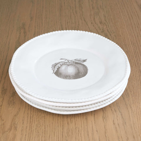 Set of 4 Veg Large Dinner Plates