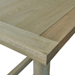 The Warwick extending dining table has two leaves which are simple to slide in.
