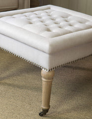Westcott Square Upholstered Ottoman Oatmeal