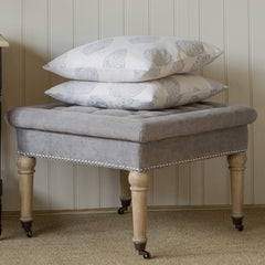 Westcott Square Upholstered Ottoman - Dove Grey