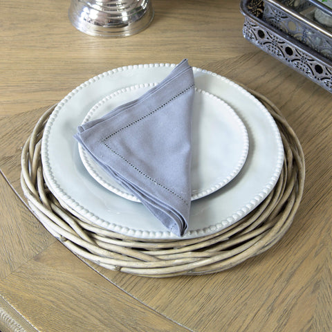 Dark Grey Hemstitch Napkin