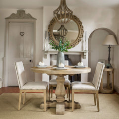 Wolsey Weathered Oak Round Dining Table