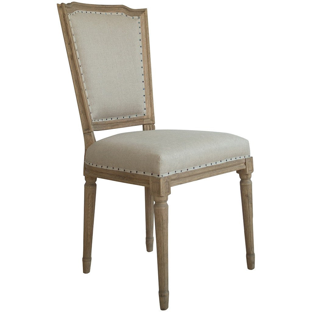 French style dining chairs la residence interiors for Oak dining chairs