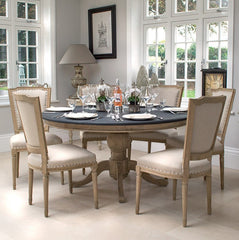 Dining Chairs - Eaton Oak French Style Dining Chair