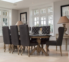 Dining Chairs - Kingsley Dining Chair Dark Grey