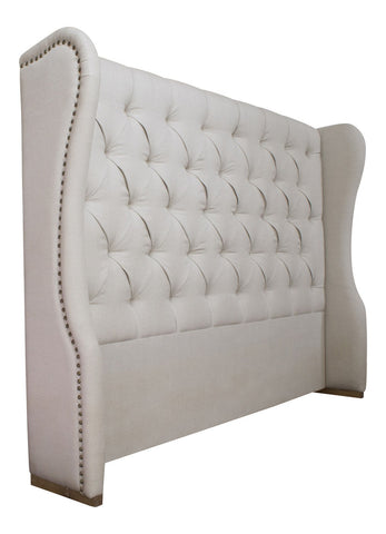Headboards - Kingsley Headboard Linen Upholstered Headboard