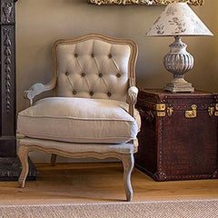 Occasional Chair - French Style Buttoned Louis Chair
