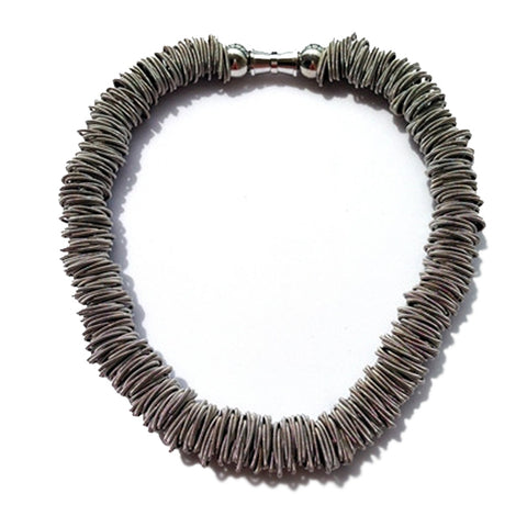 Piano Wire Necklace Slate