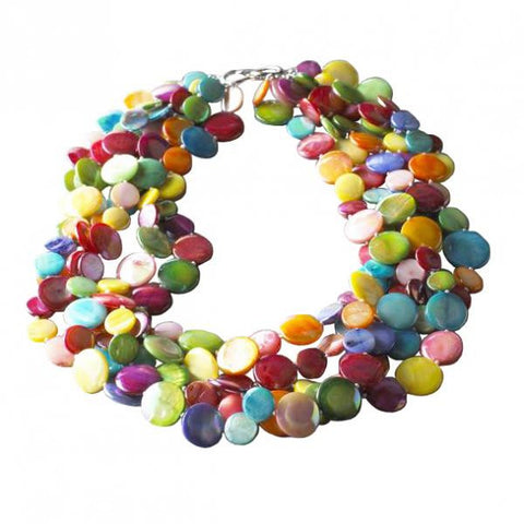 Mother of Pearl Confetti Necklace