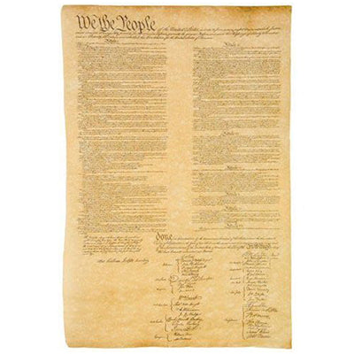 US Constitution Historical Document Replica
