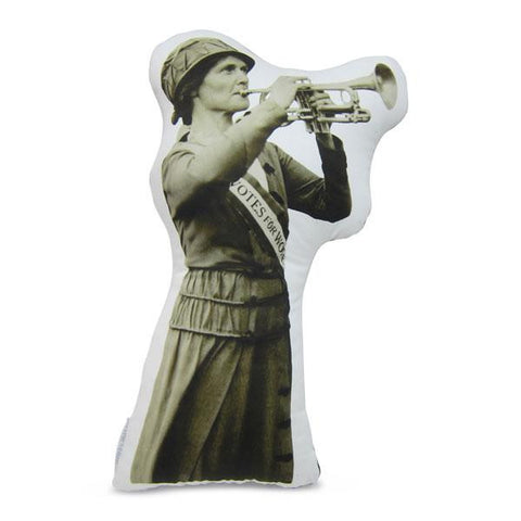 Suffragist with Horn Pillow