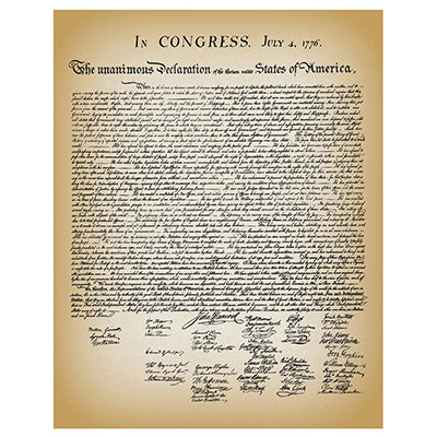 Declaration of Independence Historical Document Replica