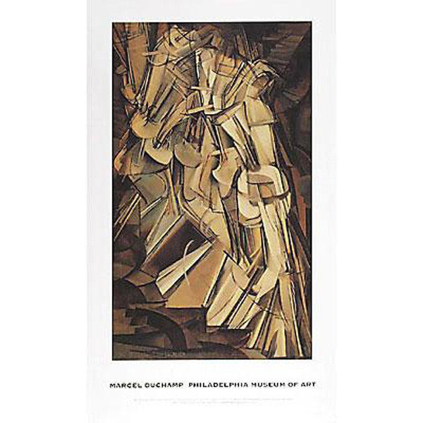 Duchamp Nude Descending a Staircase, No. 2  Poster
