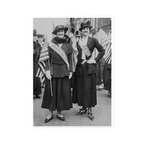 Suffrage Rally Two Suffragists Notecard