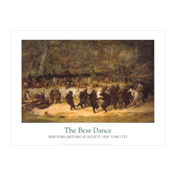 Bear Dance Poster New York Historical Society Nyhistory