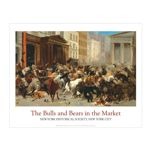 The Bulls and Bears in the Market, 1879 Poster