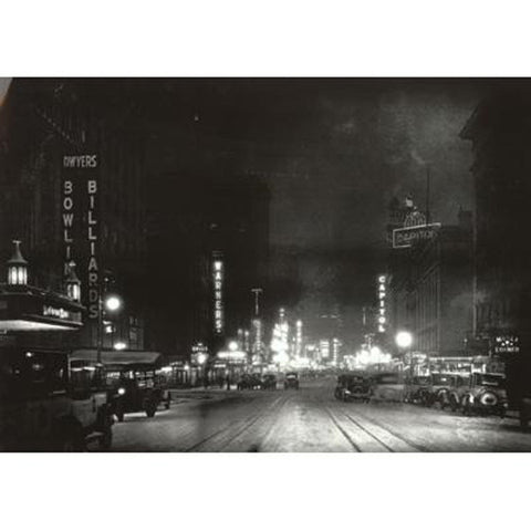 Night View on Broadway, 1926 Print