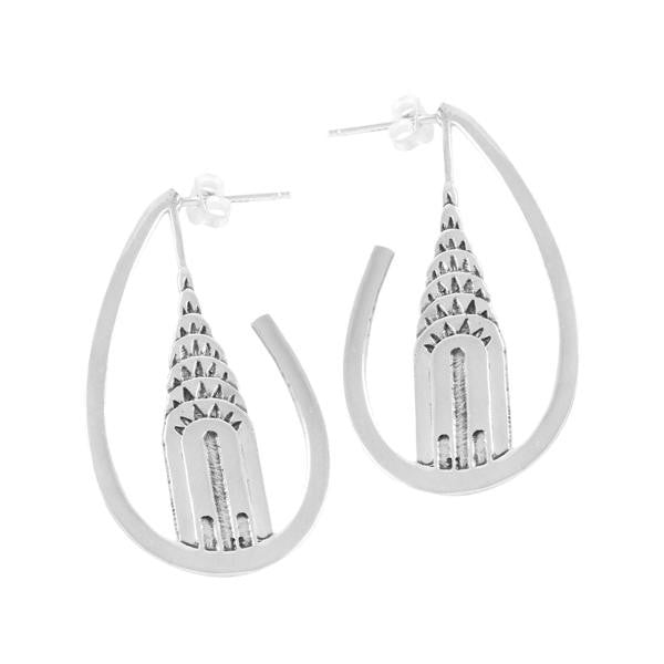 Chrysler Building Sterling Silver Earrings - New-York Historical Society Museum Store