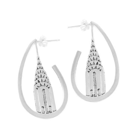Chrysler Building Sterling Silver Earrings