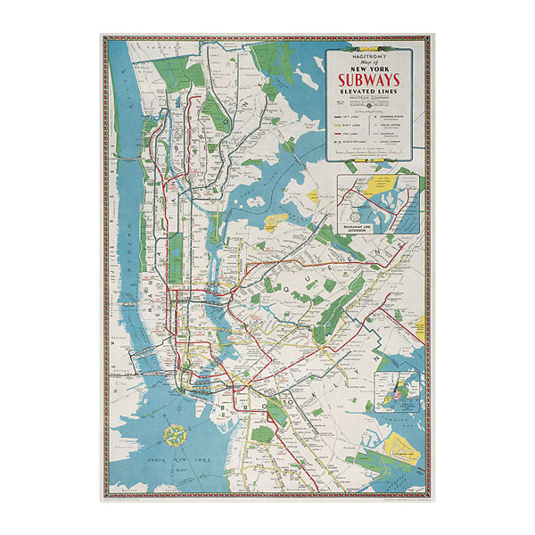 New York City Transit Guide Gift Wrap - Single Sheet