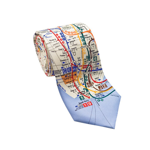New York Subway Map Necktie