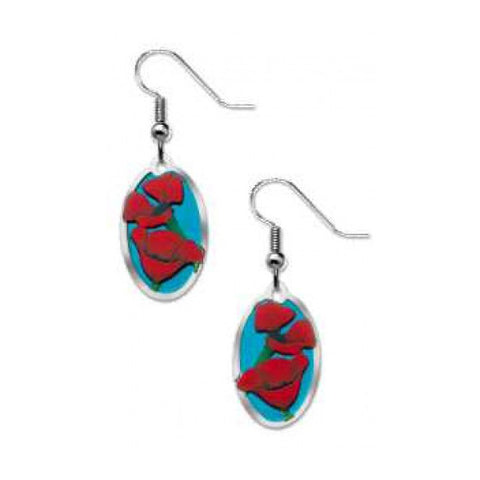 """In Flanders Fields"" Poppy Earrings"