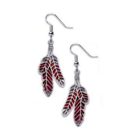 Red-Tailed Hawk Earrings