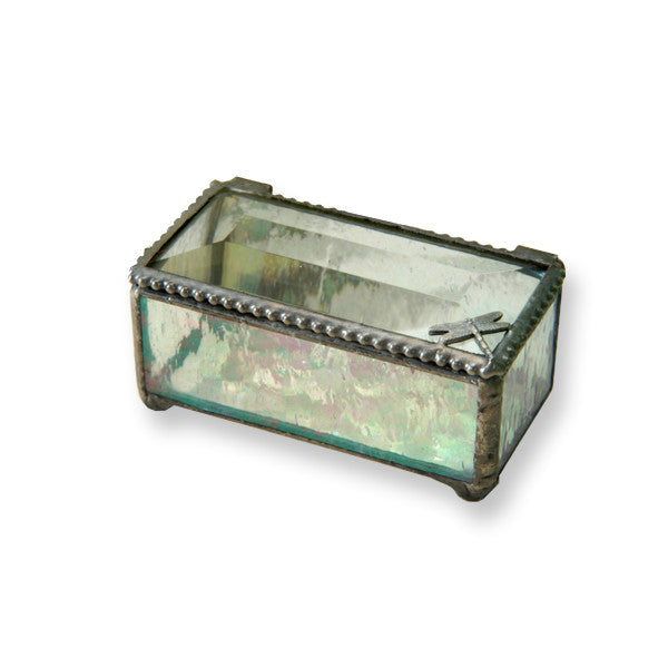 Iridized Dragonfly Glass Box