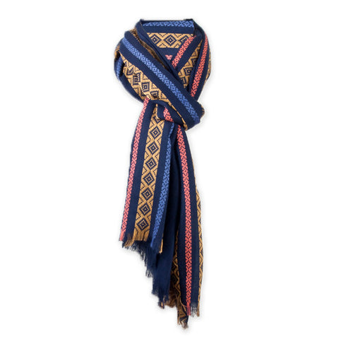Blue Striped Scarf