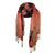 Orange Brown Dots Scarf