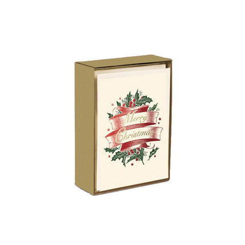 Merry Christmas on Scroll Box Card