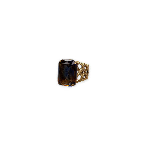 Topaz Vintage Adjustable Ring