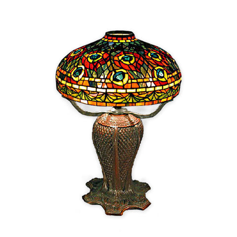 Peacock Shade Tiffany Lamp